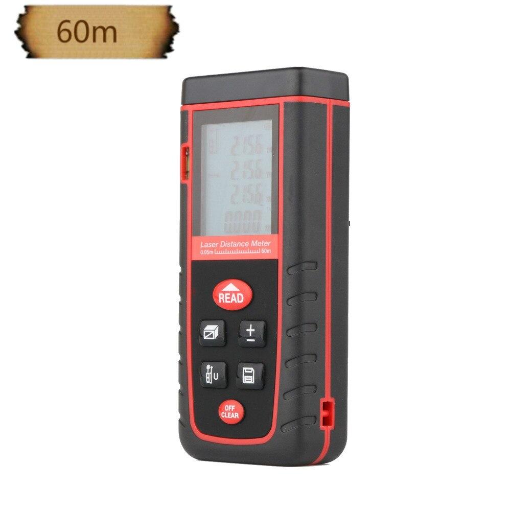 Digital laser distance Meter trena laser Tape measure Diastimeter tester tool 100M-80M-60M-40M Laser Rangefinder RZS60  цены
