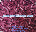 3.4*3.0*6.0mm15#Burgundy1000pcs/pack copper flared ring easily locks/copper tube micro link/ring /bead for i tip hair extension