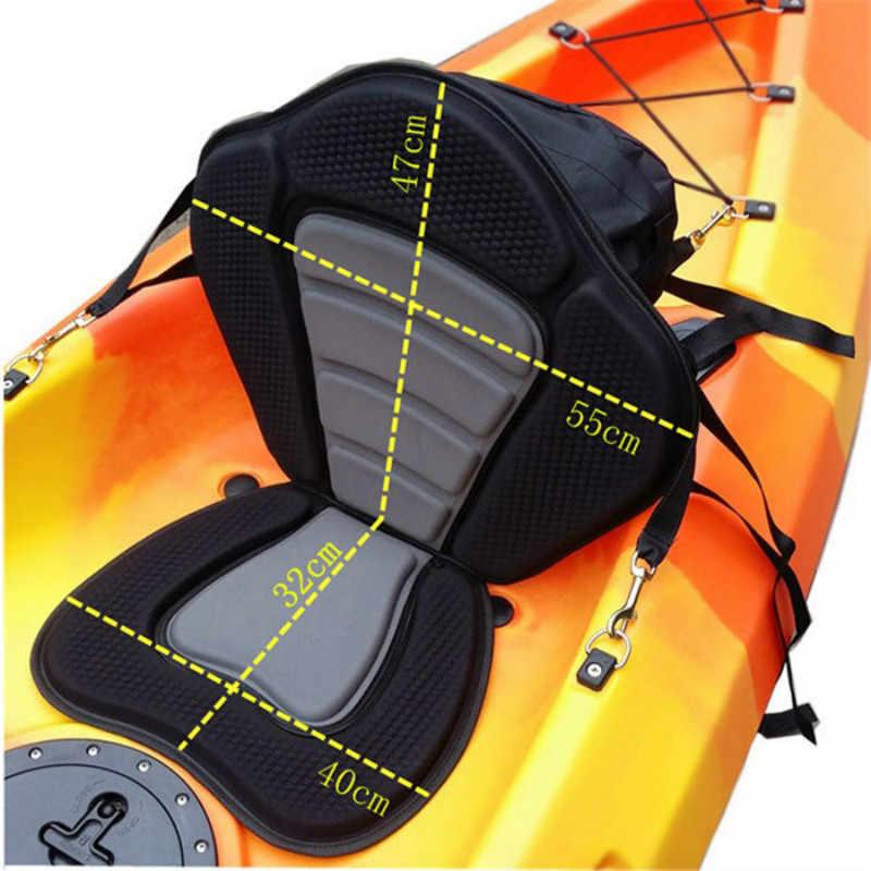 調整可能なカヤッククッションカヌー背もたれシートインフレータブルボートシート収納袋漕ぎボートパッド入り漁船アクセサリー