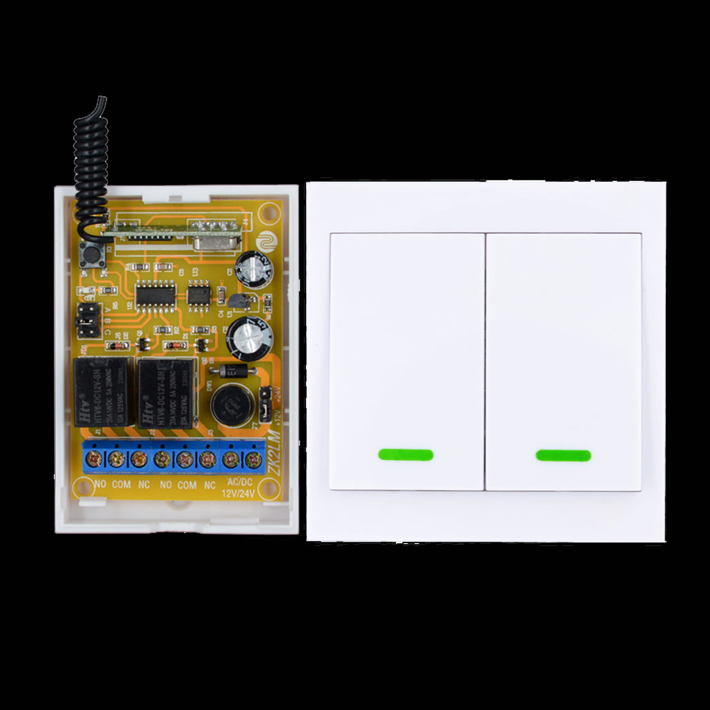 DC 12V 2CH Receiver Wireless Remote Control Switch Wall Panel Remote Transmitter Hall Bedroom Ceiling Lights Wall Lamps