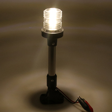 """1 szt. Składane światło nawigacyjne LED kotwica światło dla jacht łódź Stern światło DC 12 24V 10 """"regulowane żeglowanie sygnał świetlny"""