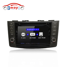 Bway car-styling 2 din Android 7.1 car radio for Suzuki Swift 2011 2012 car dvd player GPS navi with 2G RAM 32G ROM,external MIC