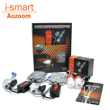 Aozoom super bright auto headlight 55W xenon H7 H1 car headlamp H8 H11 HB3 HB4 9005 9006 H4 bi xenon lens kit 5500k white