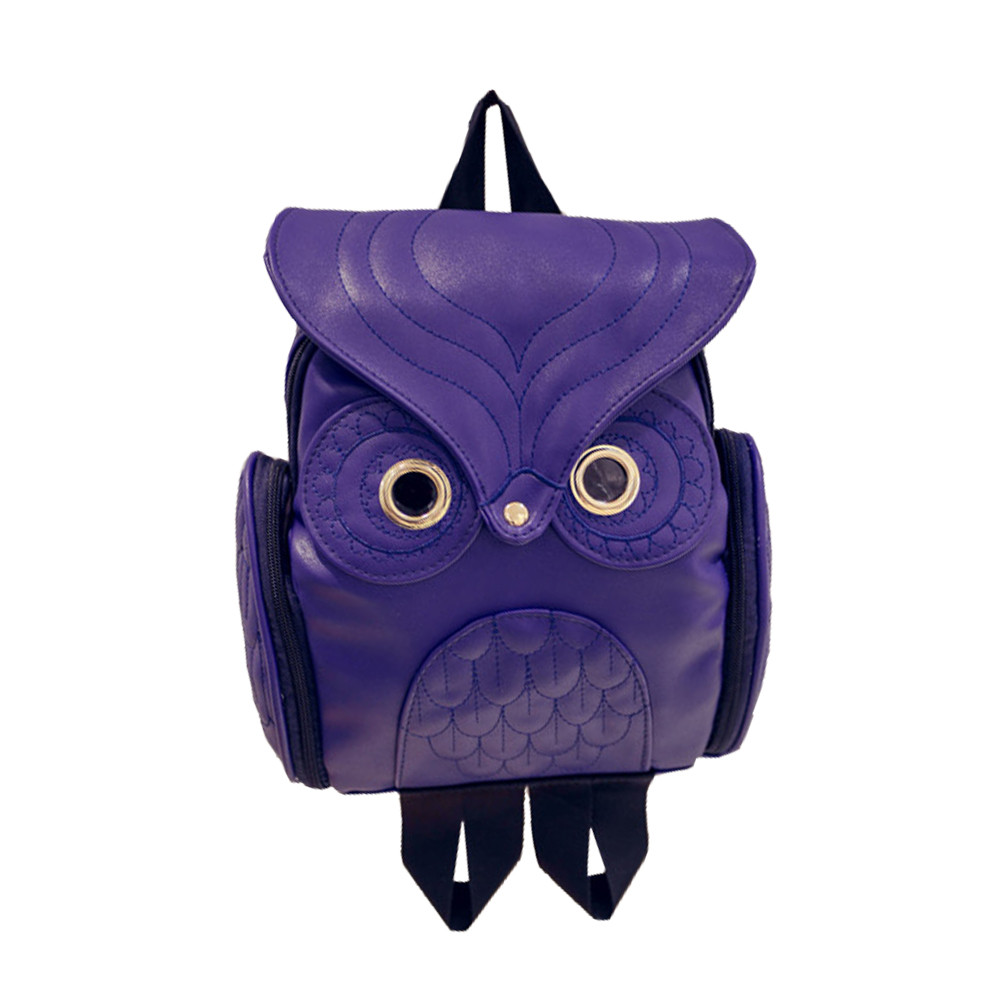 Fashion Women's Backpack 2019 Cute Owl Backpacks Leather School Bags For Teenagers Girls Female Rucksack Sac Mochila Feminina #W