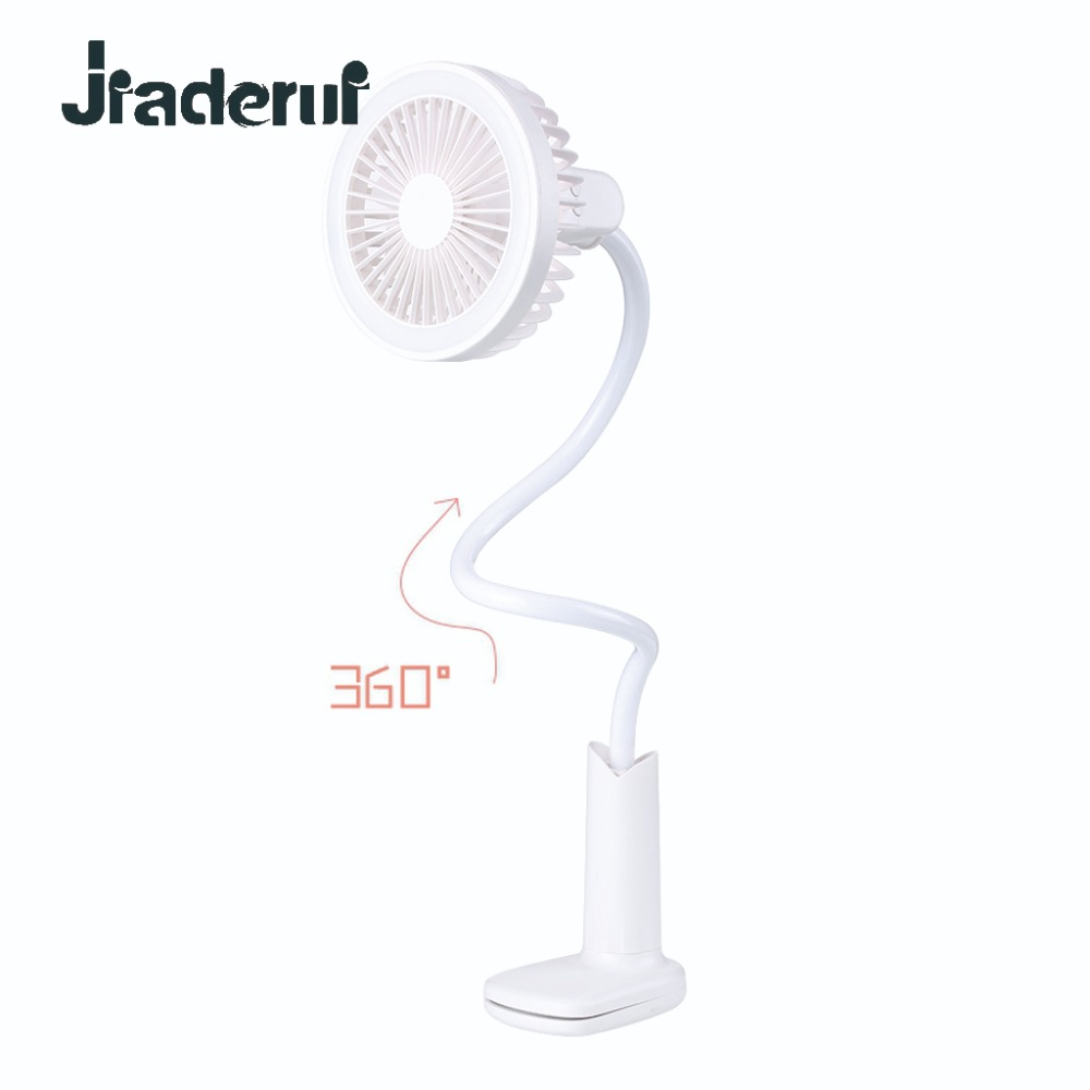 Jiaderui Usb Rechargeable Portable Led Desk Lamp Fan 360