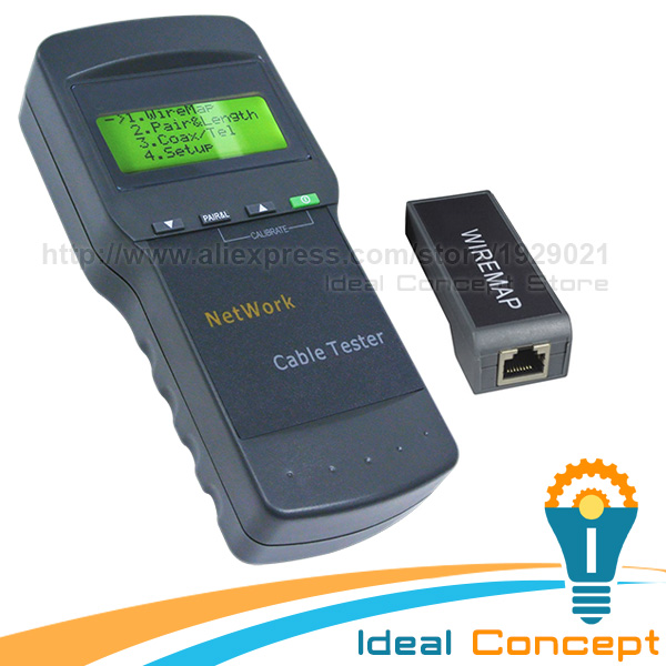 Digital Twisted Wire Meter Test Cat5 RJ45 STP UTP LAN Phone Coaxial Network Cable Tester digital twisted wire meter test cat5 rj45 stp utp lan phone coaxial network cable tester