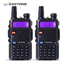 Zastone Walkie Talkie Pair V8 Dual Band VHF UHF Two Way Ham Radio HF Transceiver Communicator free shipping from Russia
