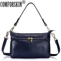 COMFROSKIN Premium Real Leather Women Messenger Bags Cross Body 2017 Brand Designer Female Minimalist Shoulder Bag