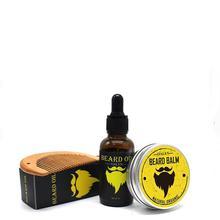 BellyLady Men Beard Care Set Mustache Styling Grooming Growth Beard Comb + Beard Oil + Beard Cream