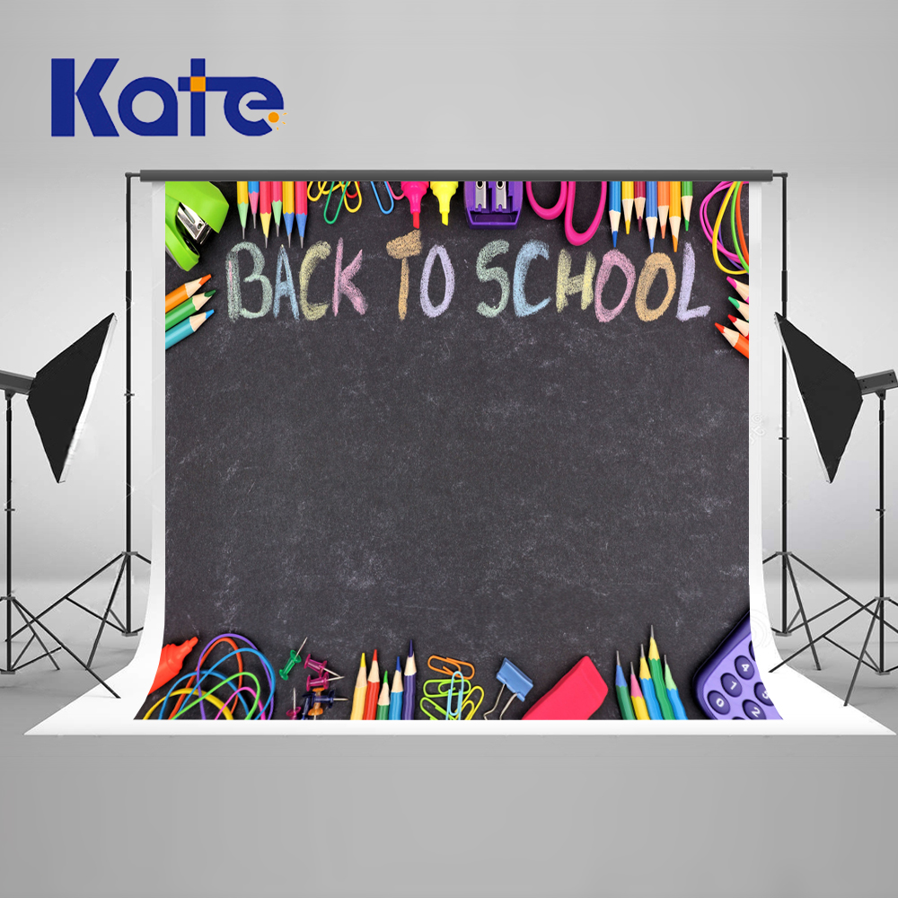 Kate Back To School Season Photography Backgrounds Blackboard Pencil Photo Backdrop Studens Graffiti Studio