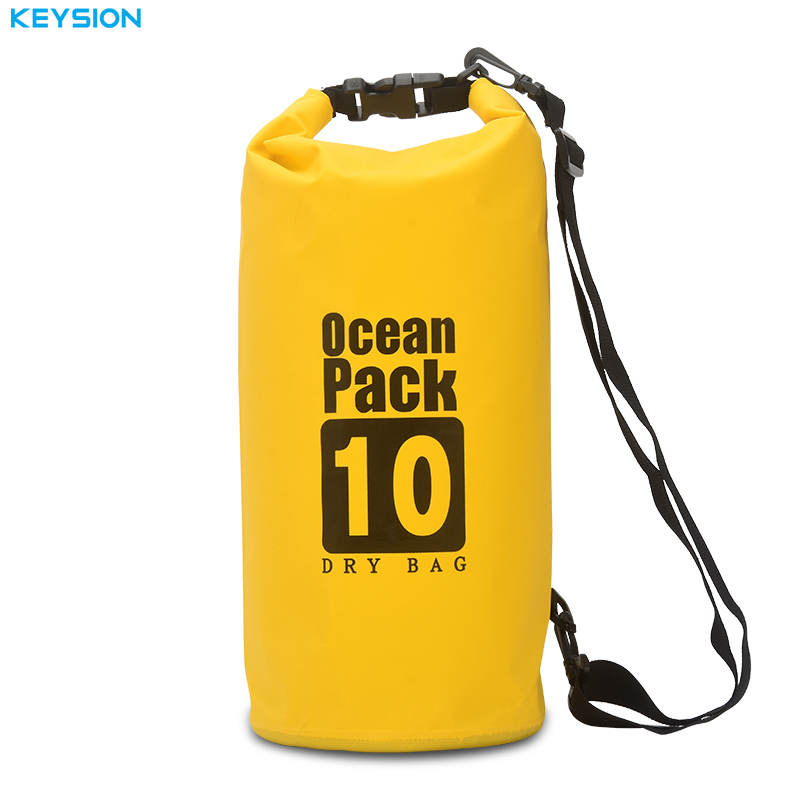 KEYSION Waterproof Rafting Bag 6 Colors Outdoor Nylon Kayaking Storage Drifting Dry Ultralight Swimming Bag 10L