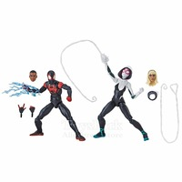 2018 Marvel Legends 6 Spiderman Miles Morales & Gwen 2 Pack Action Figure Ultimate Spider Man Into The Spider verse Collectible