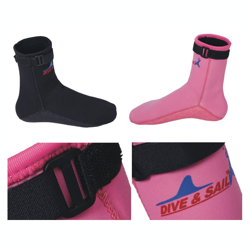 Black and Pink 2017 Size 33 to 45 Socksremium Neoprene 2.5mm Swim Socks Water Sock Westsuit Boots Wetsuit