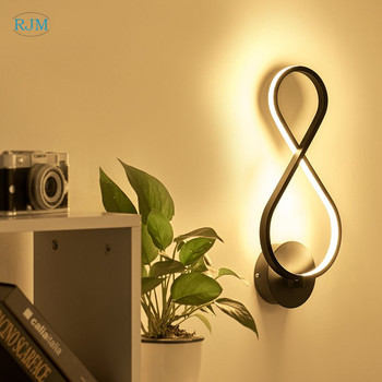 Nordic Led Bedside Bedroom Wall Lamp Simple Modern Creative Personality Lamps TV Wall Lamp Corridor Lamp