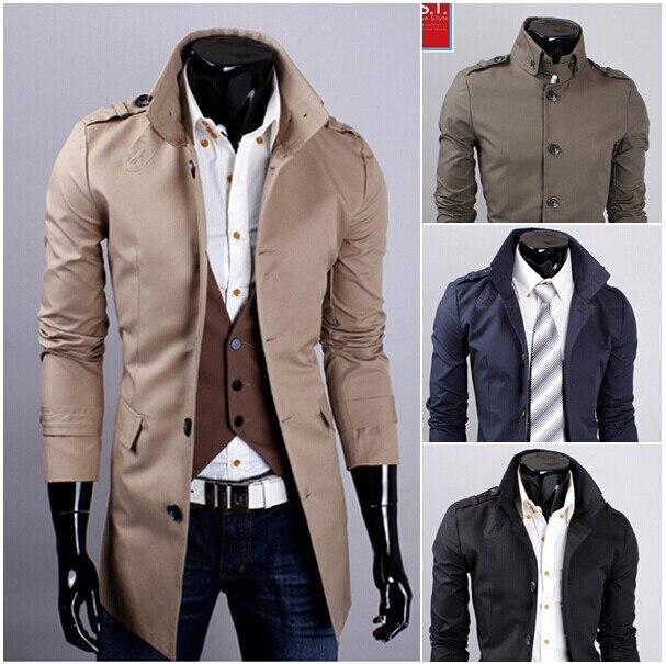Men Formal Overcoat Winter Casacos Sobretudos Masculino Long Black ...