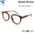 Diseño de marca Monturas de gafas De Madera Patrón Mujeres Vintage Retro Gafas Redondas Marco Lente Clara Eyewear Rx
