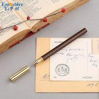 Hot Sale Brass Sandalwood Ball Pen Wood Stationery Wooden Ballpoint Pen Business Gift Custom Lettering Logo