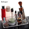 Clear Cosmetic Makeup Storage Display Organizer Box Lipstick Holder Stand Make Up Brush Eyeshadow Nail Polish