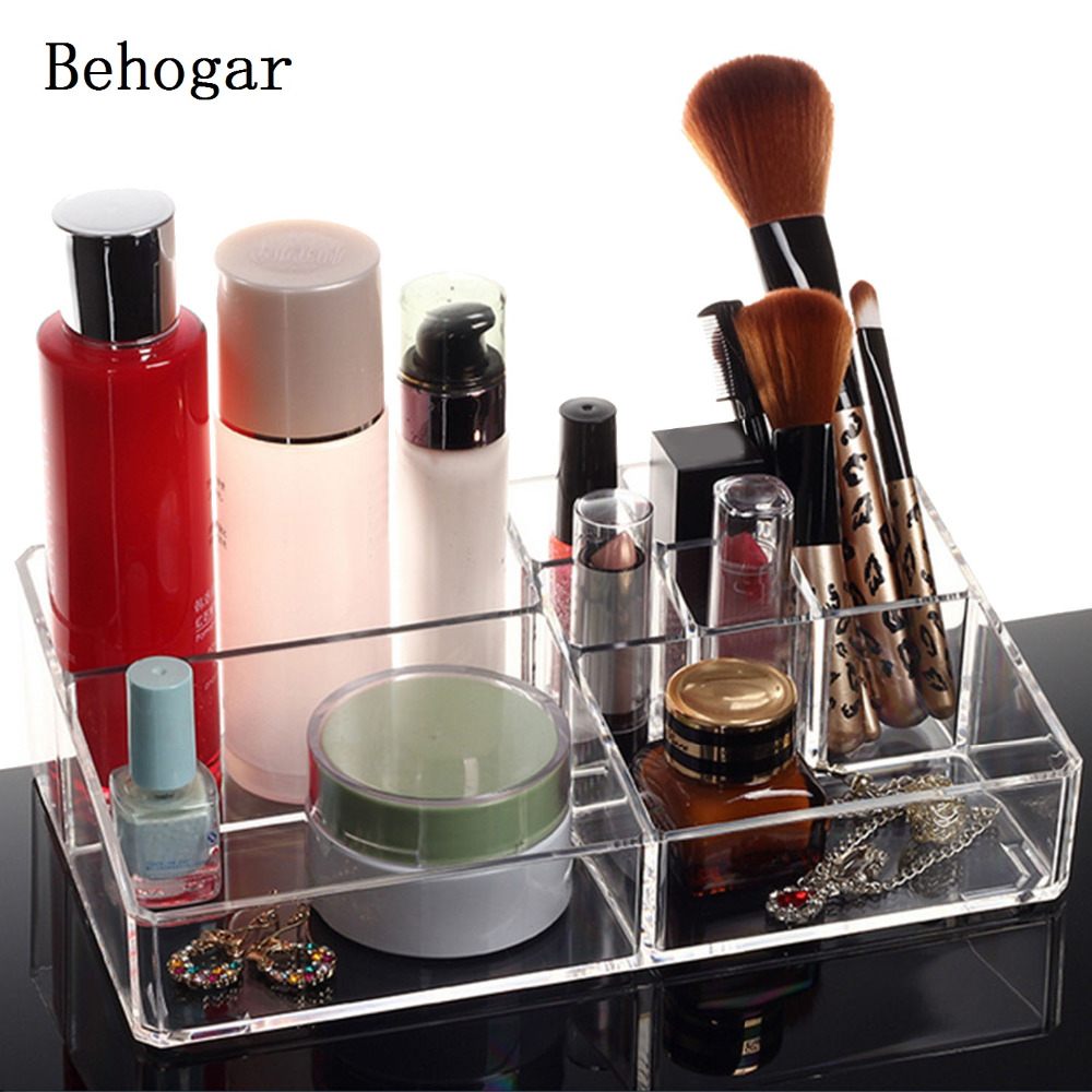 behogar clear cosmetic makeup storage display organizer. Black Bedroom Furniture Sets. Home Design Ideas