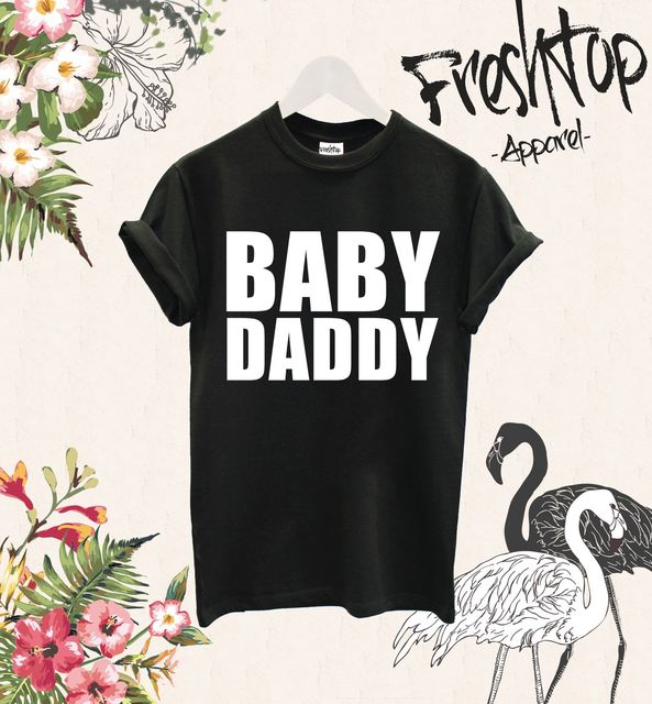 baby daddy t shirt father to be new dad gift present baby shower day