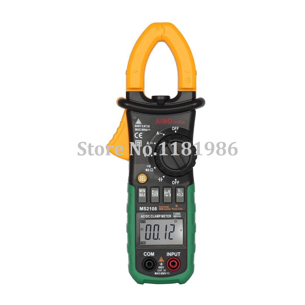 AIMO / Aimometer MS2108 LCD Display True RMS AC/DC Digital Clamp Meter Clip-on Table Clamp-on Tester with Capacitance Testing  цены
