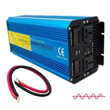 8000 Вт Чистая синусоида Инвертор питания DC 12 В/24 В в AC 220 В/230 В/240 В с двойной светодиодный дисплей 3.1A USB
