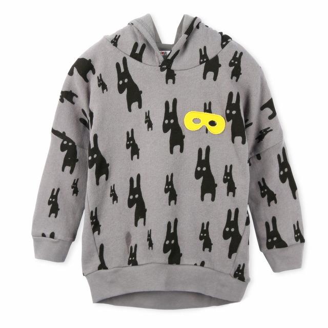 Compras grátis! 2014 nova crianças camisolas hoodies, 100% algodão e de alta qualidade, Bonito Animal impresso gola para atacado e varejo