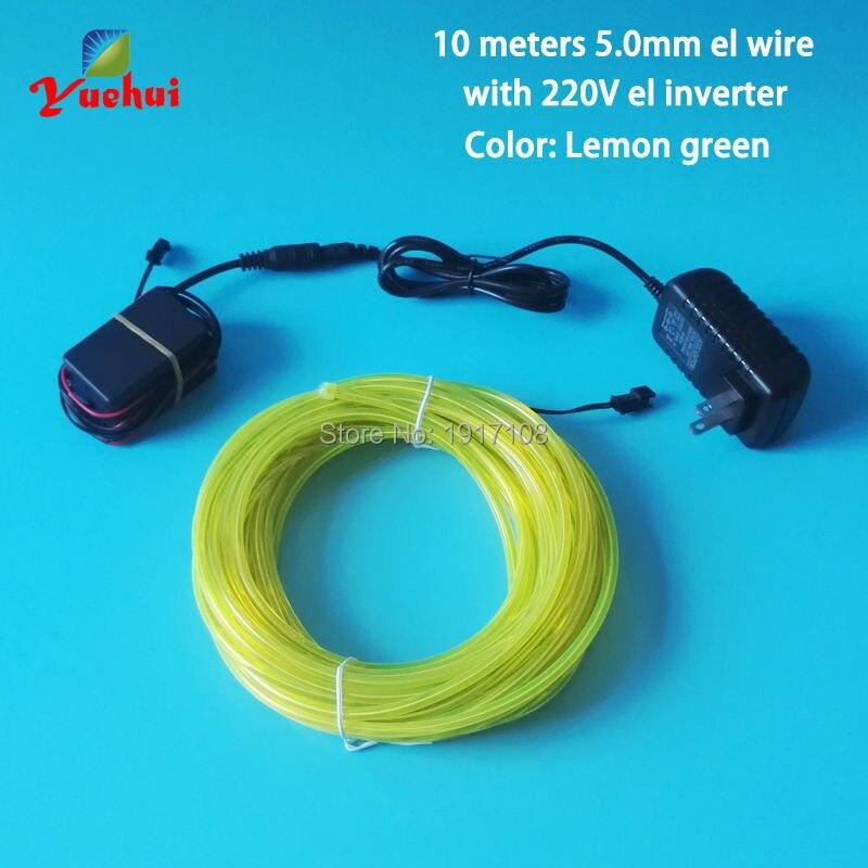 10 Цвета выбор 10 метров 5.0 мм Неоновый Провода Освещение EL Провода веревки с драйвером 220 В контроллер используется для дома для вечеринок Дек...