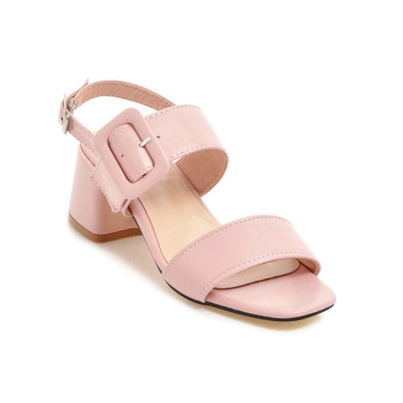 Chaussures Bout Printemps Sexy Hauts Sandales Épais MeilleurY0728032f Gladiateur Femmes Ouvert Talons Plate forme Été rose À Bleu De Femme shtQxCrd