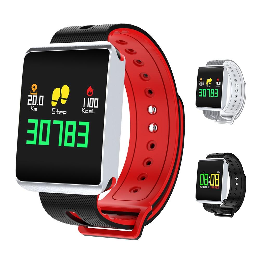 TF1 Bluetooth 4,0 Smart Uhr Herz Rate Blutdruck Sauerstoff Tracker Passometer für IOS Android Wasserdichte Intelligente Armbanduhr
