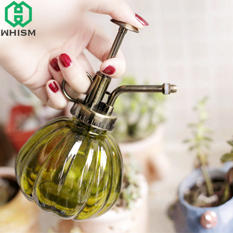 WHISM Antique Plant Watering Can Glass Ps