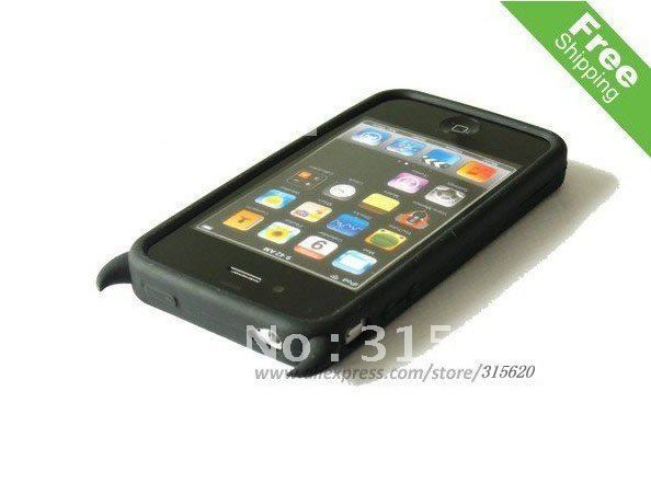 Wholesale/retail Devil Silicone Soft Case for iPhone 4G free shipping