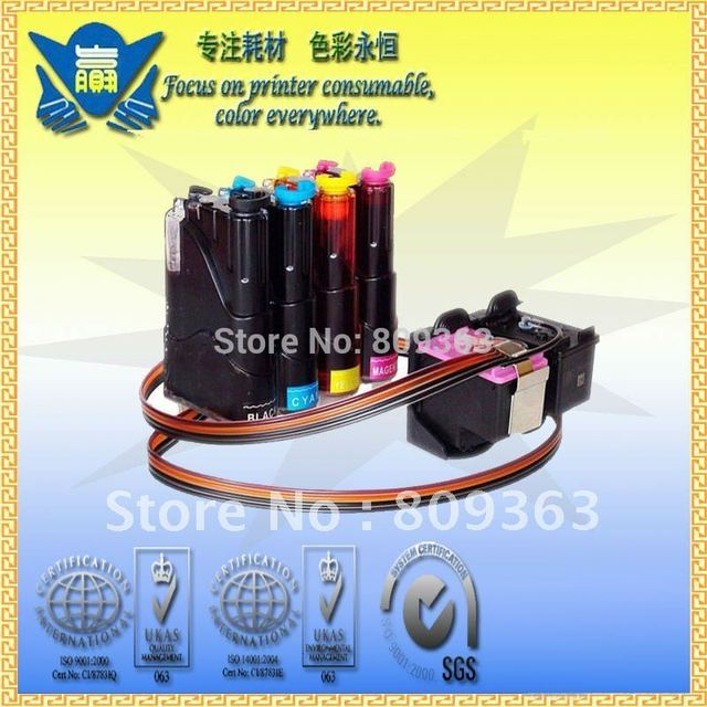 CISS for HP 60 Continuous Ink Supply System for HP DeskJet D2560/D2566/F4280 Free Shipping By DHL