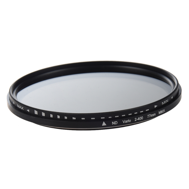 77mm ayarlanabilir nötr yoğunluk ND Fader filtresi ND2 to ND400