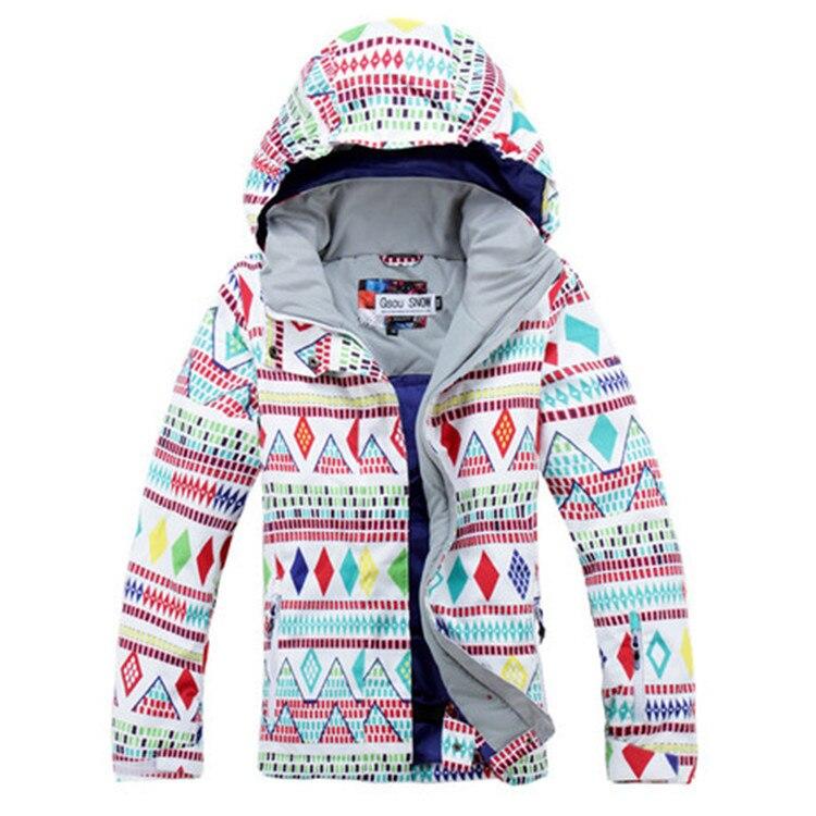 Prix pour Livraison gratuite! nouveau 2014 Blanc couleur point ski costume/vêtements de ski/imperméable respirant Ski Vestes
