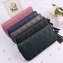 THINKTHENDO New Fashion Women Tassel Clutch Lady Wallet Long ID Card Holder Purse Handbag