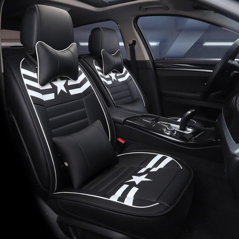 Couverture de siège de voiture véhicule chaise en cuir cas pour mazda mazda 3 2007 2008 2010 2014 2015 2016 2017 2018 axela bk bl 323