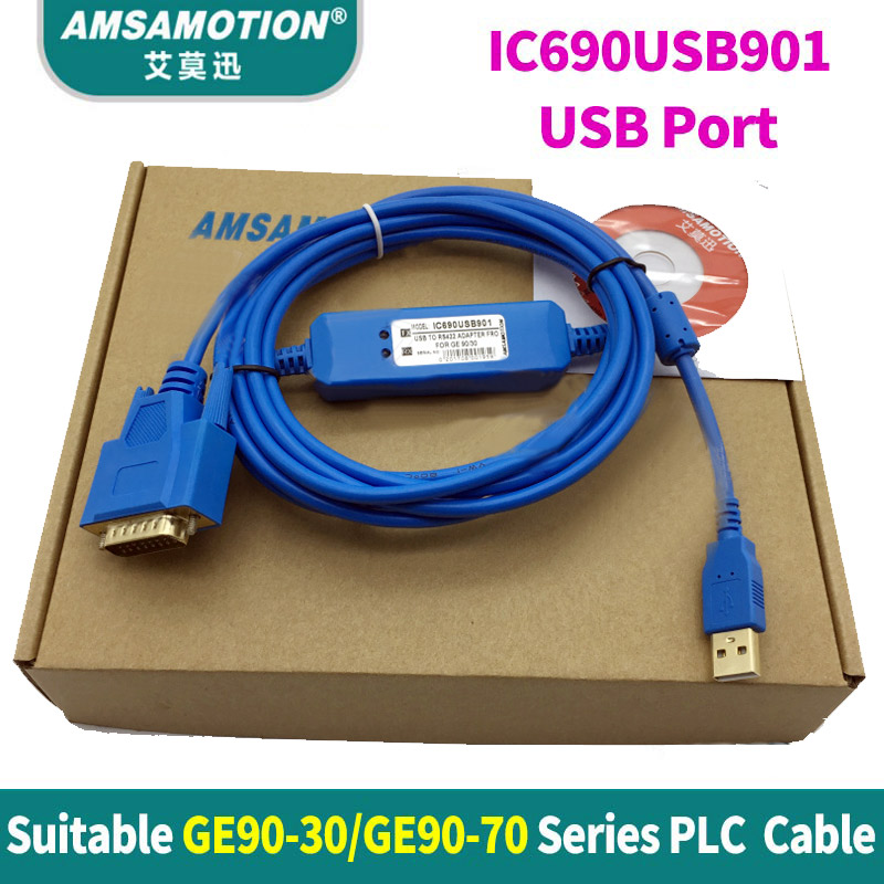 все цены на IC690USB901 IC690ACC901 Suitable GE90-30 GE90-70 Series PLC programming Cable USB And RS232 Port Version онлайн