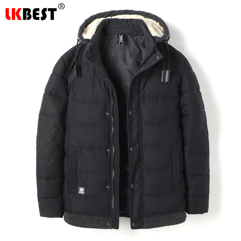 LKBEST Brand long winter coat loose thick Men Padded Parka hooded windproof Cotton winter jacket men lagre size outerwear 8853 plus size pure color down cotton jacket brand zipper windproof collar winter coat men casual loose type male hooded parka mp64