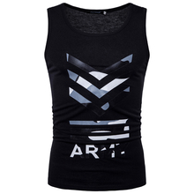 2018 fashion camouflage print bodybuilding tank top for men good quality sleeveless fitness Eu size