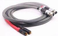Audiophile Audio Cable 2 RCA Male to 2 XLR HIFI Plug 3 Pin Male