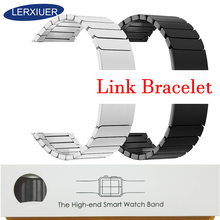 Lerxiuer Stainless Steel Strap for Apple Watch band apple watch 4 40mm 38mm 42mm 44mm Wrist Watchband Accessories