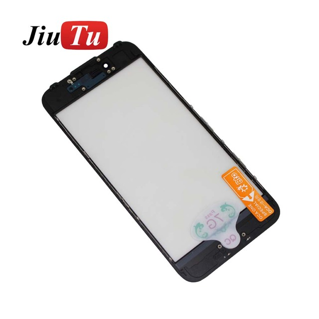 Cold Press Front Glass+Frame+OCA For iPhone 6 to 8Plus Outer Glass ...