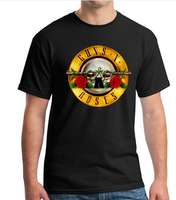 Men T Shirts Famous Rock Band Guns N Roses Printed 100 180G Combed Cotton Top Tee