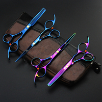 Professional Hair Scissors Salon Hairdressing Cutting Thinning Barber Tools Practical I016 Free Shipping