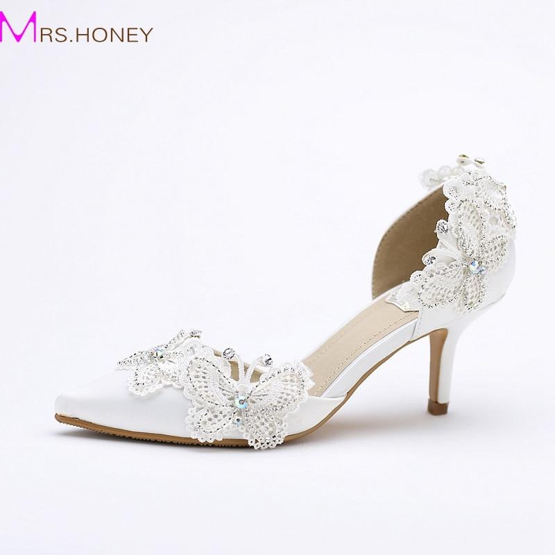 aliexpress buy kitten heel pointed toe bridal shoes