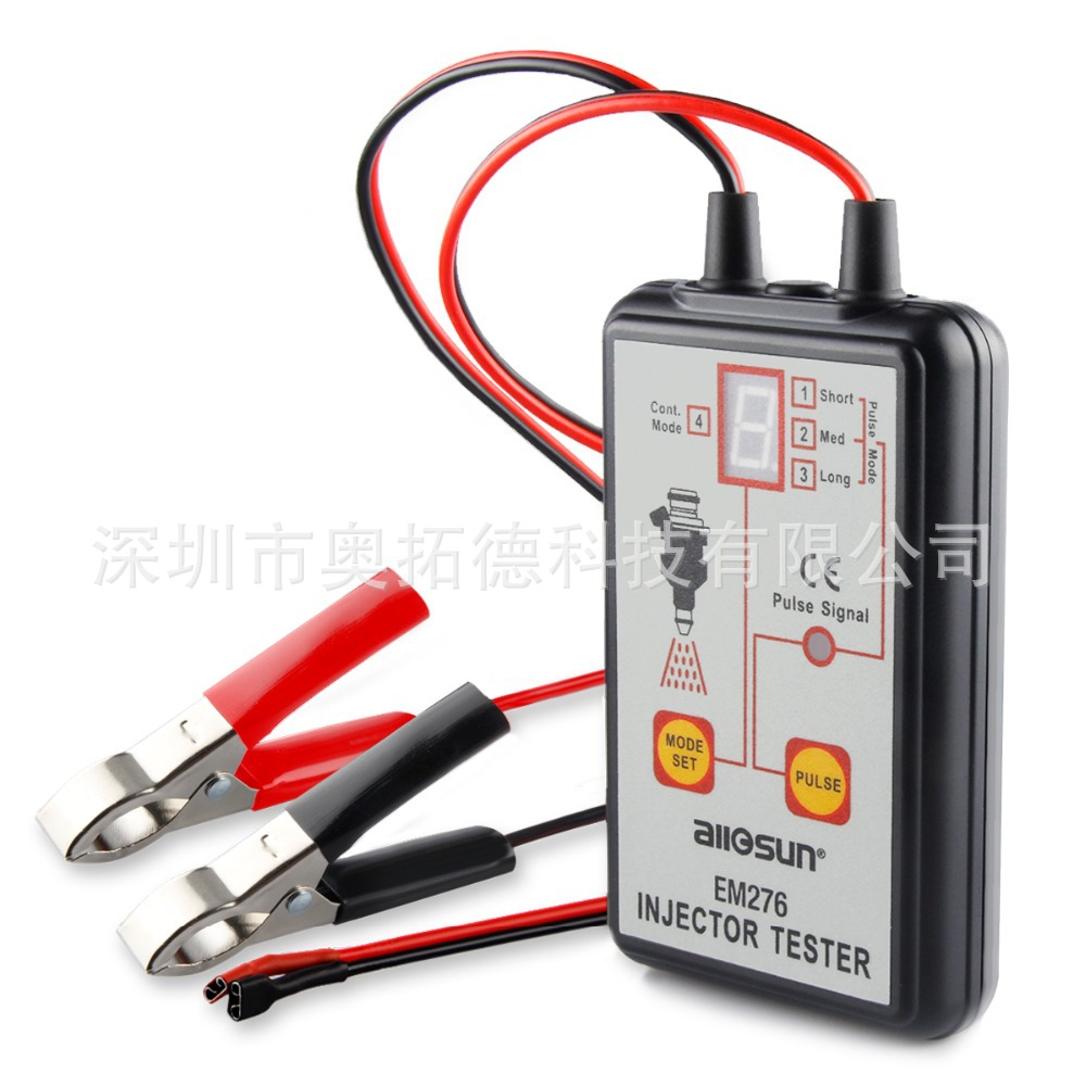 Fuel Pressure Tester EM276 Injector Tester Fuel Injector 4 Pluse Modes Tester Powerful Fuel Pump System Diagnostics Analyzer genuine oem fuel injector pressure sensor denso 6270 499000 6270