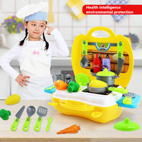 26pcs Set Kitchen Tools Toys DIY Cooking Food Cookware Role Play Parent Child Interaction Kids Puzzle