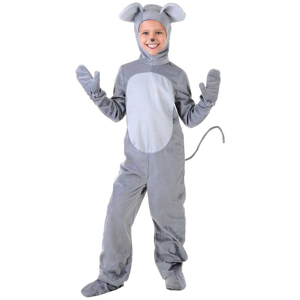 Animal Cosplay Kids Mouse Costume Toddler Animal Costume Little Gray Mouse Fancy Dress Onesie Jumpsuit Outfit Chilrens Day Gift