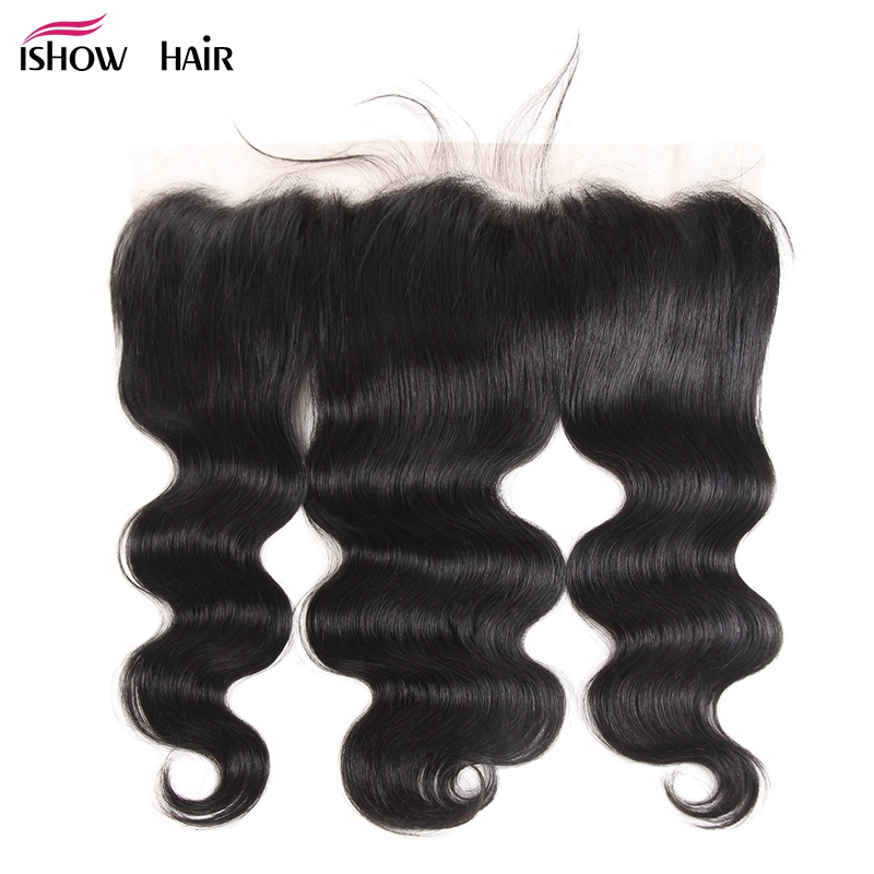 Ishow Hair Brazilian Body Wave Lace Frontal Free Part Ear to Ear Frontal 13 x4 Human